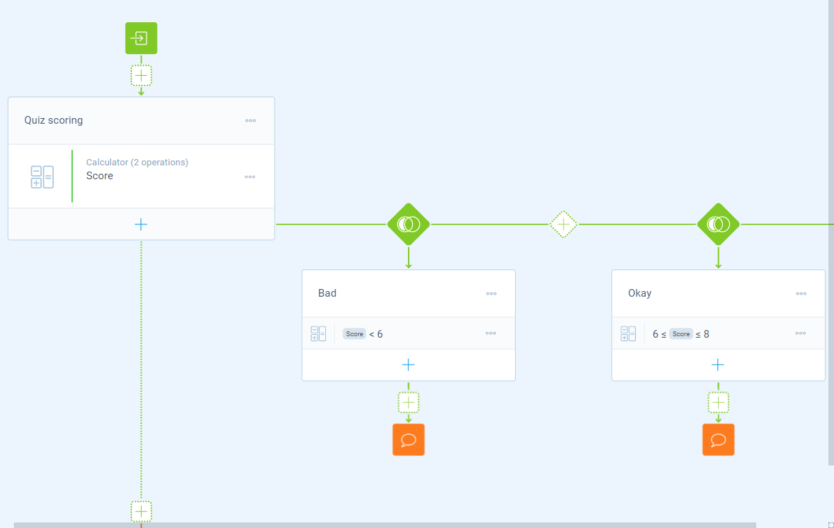 Screenshot of the form builder in Tripetto